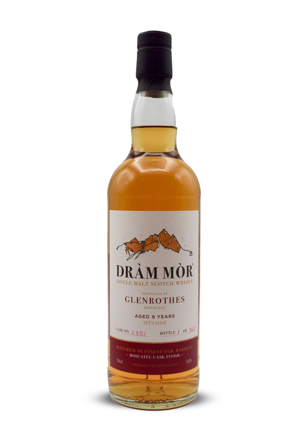 Two Dràm Mòr 9 Year Old Glenrothes, Muscatel and Spanish Red Wine Finishes